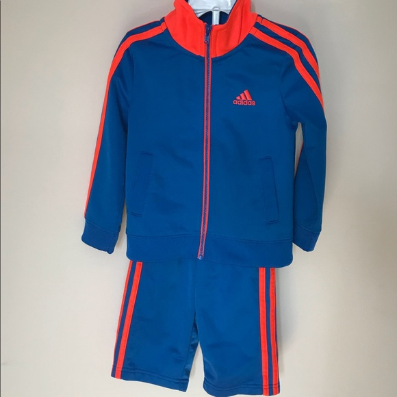 wholesale online cheapest price hot sale online EUC Adidas toddlers track suit orange and blue
